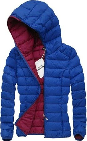 QUILTED HOODED JACKET BLUE (7092)