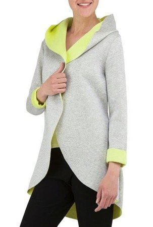 SWEETISSIMA HOODED BLAZER GREY+LIME (8103-6)