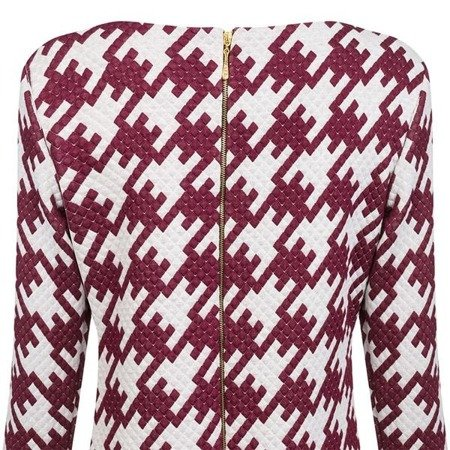 PATTERNED QUILTED DRESS WINE (S228)
