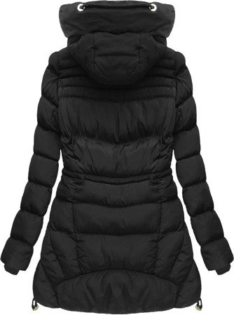 HOODED QUILTED JACKET BLACK (W809)