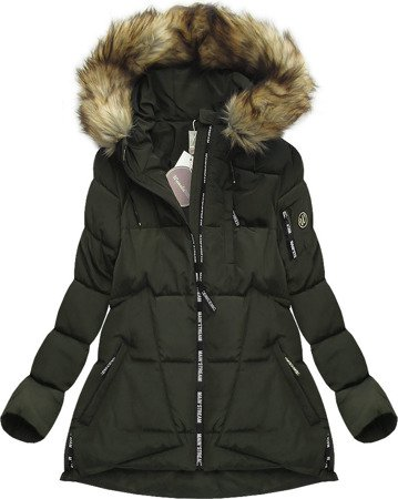 SHORT HOODED QUILTED JACKET KHAKI (1001)