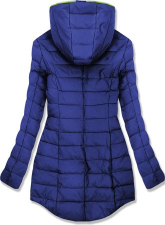 HOODED QUILTED JACKET CORNFLOWER BLUE (7152)