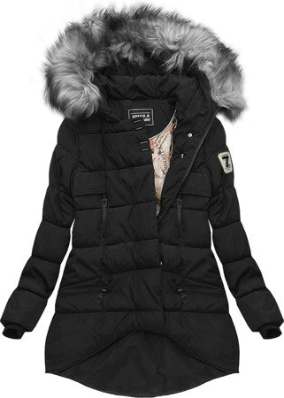 HOODED QUILTED JACKET BLACK (W802)