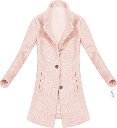 SIMPLE BUTTONED COAT PINK (51950)