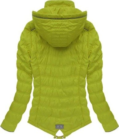 ASYMMETRIC BOTTOM JACKET LIME (W702)