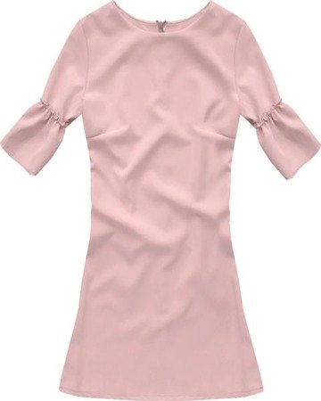 FRILL SLEEVE DRESS POWDER PINK (633)