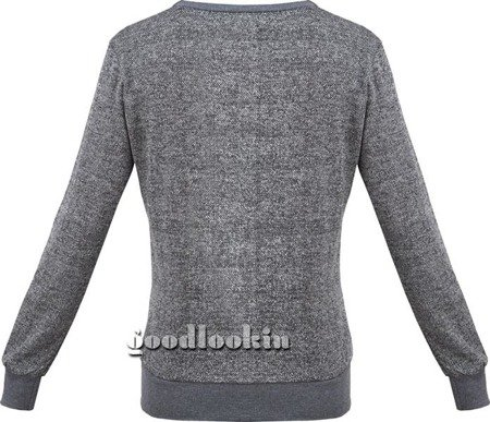 HOT RED ON SUN ROUND NECK SWEATSHIRT PEWTER MELANGE (7260)