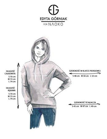 EVERY MOMENT HOODIE EDYTA GÓRNIAK FOR NAOKO LIGHT GREY (MOMENT)