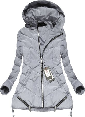 HOODED QUILTED JACKET GREY (1720)