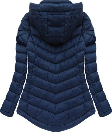 SHORT HOODED JACKET NAVY BLUE (W519)