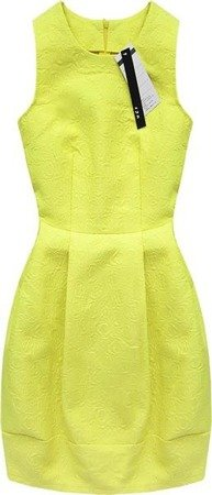 EMBOSSED PATTERN DRESS LIME (3121)