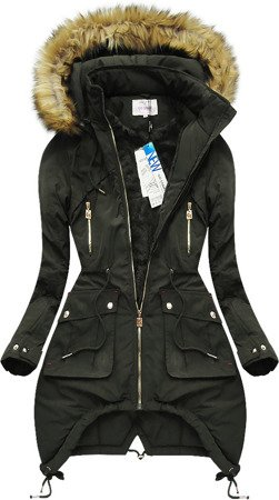 HOODED QUILTED JACKET KHAKI (7206W)