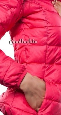 QUILTED HOODED JACKET PINK (7092)