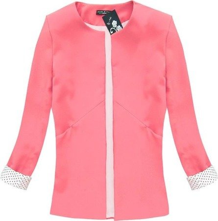 ROLL-UP SLEEVE DINNER JACKET NEON PINK (N71)