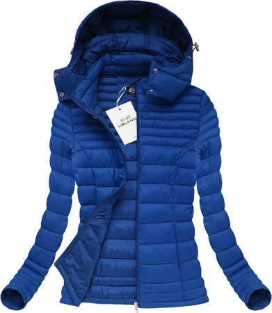 HOODED QUILTED JACKET BLUE (7116)