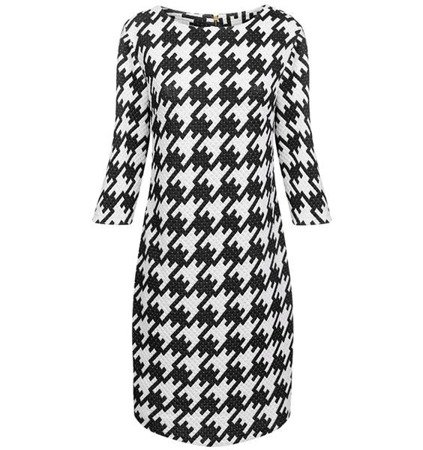 PATTERNED QUILTED DRESS BLACK (S228)