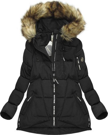 SHORT HOODED QUILTED JACKET BLACK (1001)