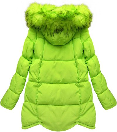 HOODED QUILTED JACKET LIME (W801)
