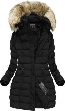 LONG HOODED JACKET BLACK (21641B)