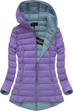 HOODED QUILTED JACKET LILAC (7152)