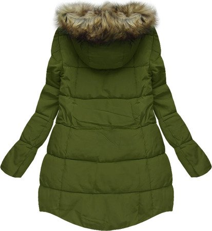 HOODED QUILTED JACKET GREEN (W803)