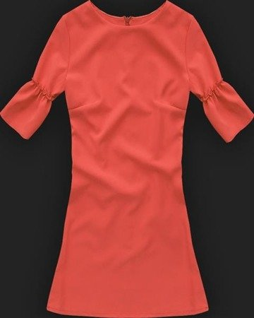 FRILL SLEEVE DRESS ORANGE (633)