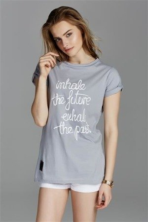 INHALE THE FUTURE T-SHIRT EDYTA GÓRNIAK FOR NAOKO LIGHT GREY (INHALE)