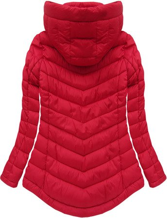 SHORT HOODED JACKET RED (W519)