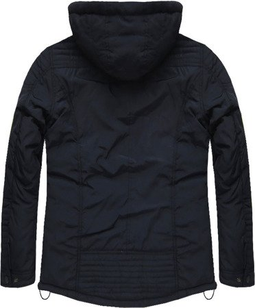 HOODED WINTER JACKET NAVY BLUE (M560)