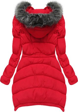 HOODED QUILTED JACKET RED (W502)