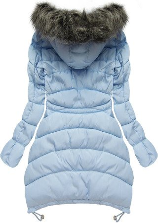 HOODED QUILTED JACKET BABY BLUE (W502-1)