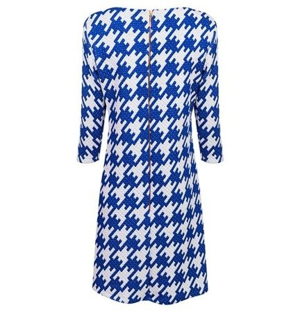 PATTERNED QUILTED DRESS BLUE (S228)