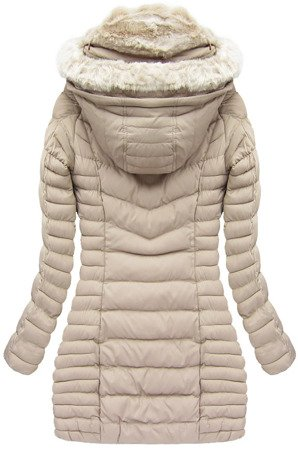 HOODED QUILTED JACKET BEIGE (W820)