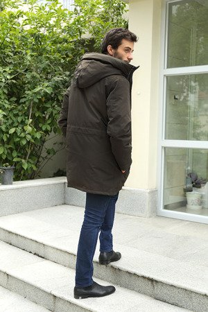 NATURAL DOWN WINTER JACKET KHAKI (5012)
