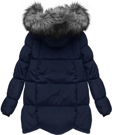 HOODED QUILTED JACKET NAVY BLUE (W801)