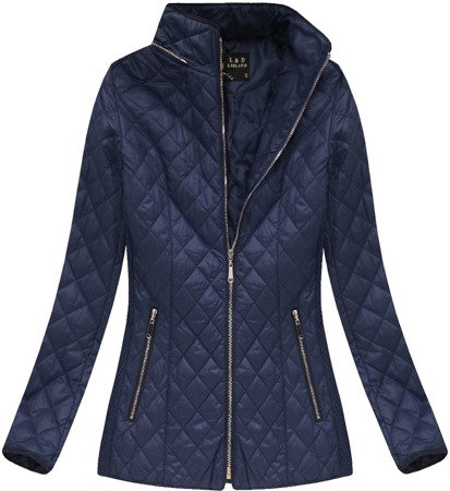 QUILTED HOODED JACKET NAVY BLUE (7056)