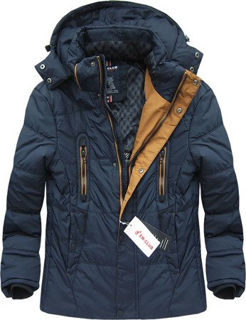 HOODED WINTER JACKET NAVY BLUE (601)