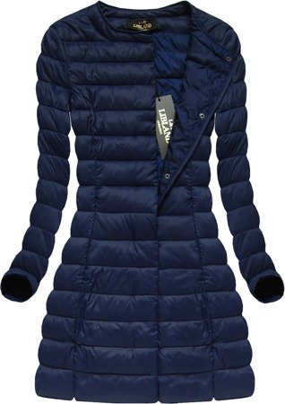 LONG QUILTED JACKET NAVY BLUE (7148BIG)