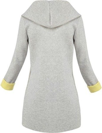 SWEETISSIMA HOODED BLAZER GREY+YELLOW (8103-6)
