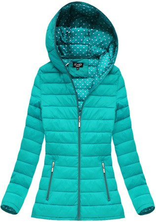 QUILTED HOODED JACKET TEAL (7103BIG)
