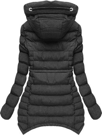 SHORT HOODED QUILTED JACKET PEWTER (W807)
