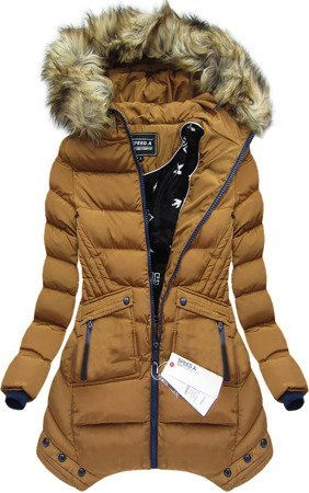 HOODED QUILTED JACKET CARAMEL (W810BIG)