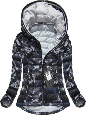 HOODED QUILTED JACKET BLACK (BH1718)